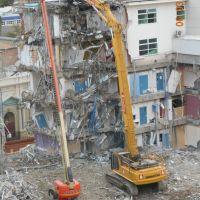 Demolition from the rear B Block